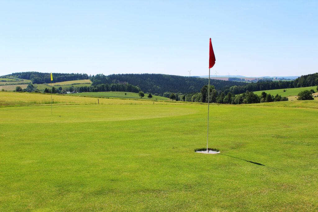 Footgolf und Golfloch